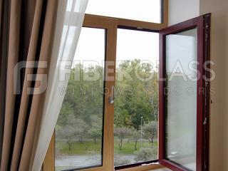Стеклокомпозитные окна, натуральный шпон