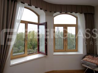 Стеклокомпозитные шпонированные окна