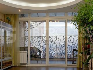 Теплая раздвижная дверь из стеклокомпозита