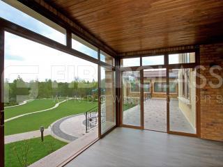 Панорамные раздвижные двери из стеклопластика