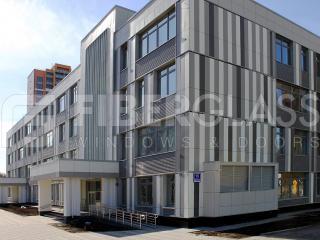 Стеклокомпозитные окна в школе на ул.Базовская (03)