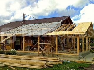 Остекление террасы деревянного дома до установки окон