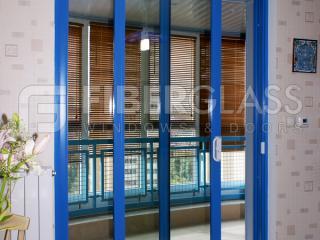 Раздвижные двери из стеклокомпозита на лоджию