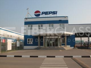 Окна из стеклокомпозита для КПП завода Pepsi