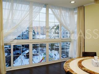 Теплое раздвижное окно из стеклокомпозита