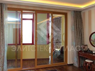 Раздвижная дверь из стеклокомпозита, 4-х створчатая