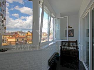 Панорамное остекление выхода на балкон