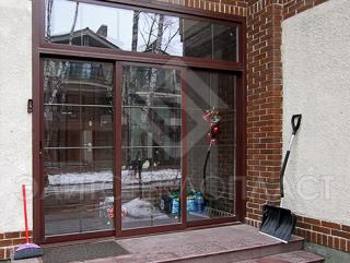 Входные раздвижные двери из стеклопластика