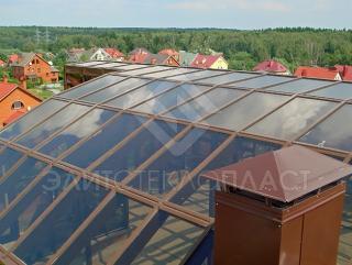 Остекление зимнего сада на крыше дома